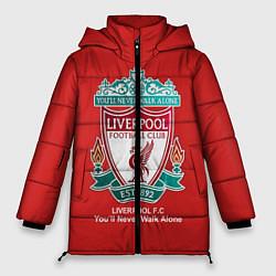 Женская зимняя 3D-куртка с капюшоном с принтом Liverpool, цвет: 3D-черный, артикул: 10063903406071 — фото 1