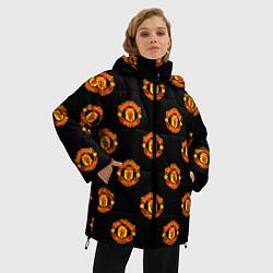 Куртка зимняя женская Manchester United Pattern - фото 2