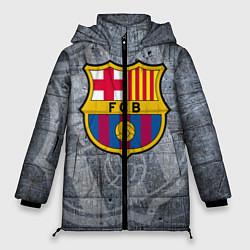 Женская зимняя 3D-куртка с капюшоном с принтом Barcelona, цвет: 3D-черный, артикул: 10063906106071 — фото 1