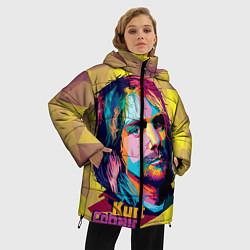 Куртка зимняя женская Kurt Cobain: Abstraction цвета 3D-черный — фото 2