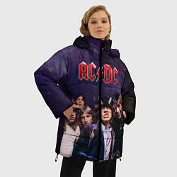 Куртка зимняя женская AC/DC цвета 3D-черный — фото 2