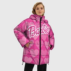 Куртка зимняя женская Barbie цвета 3D-черный — фото 2