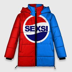 Женская зимняя 3D-куртка с капюшоном с принтом Sexsi Pepsi, цвет: 3D-черный, артикул: 10064282006071 — фото 1