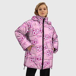 Куртка зимняя женская Bitch Pattern цвета 3D-черный — фото 2