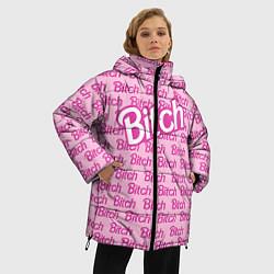 Куртка зимняя женская Bitch Barbie цвета 3D-черный — фото 2