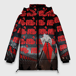 Куртка зимняя женская Pink Floyd Pattern цвета 3D-черный — фото 1