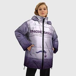 Куртка зимняя женская Imagine Dragons: Silence цвета 3D-черный — фото 2