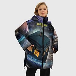 Куртка зимняя женская Police Box цвета 3D-черный — фото 2