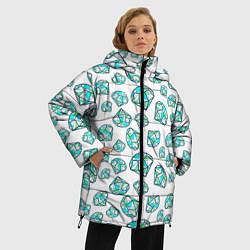 Куртка зимняя женская Бриллианты цвета 3D-черный — фото 2