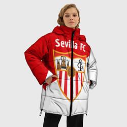 Женская зимняя 3D-куртка с капюшоном с принтом Sevilla FC, цвет: 3D-черный, артикул: 10065164906071 — фото 2