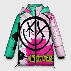 Куртка зимняя женская Blink-182: Purple Smile цвета 3D-черный — фото 1
