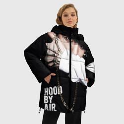 Женская зимняя 3D-куртка с капюшоном с принтом BTS: Hood by air, цвет: 3D-черный, артикул: 10071615206071 — фото 2