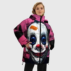 Женская зимняя 3D-куртка с капюшоном с принтом Клоун, цвет: 3D-черный, артикул: 10072073906071 — фото 2