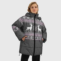 Куртка зимняя женская Узор с оленями - фото 2