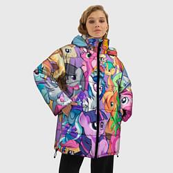 Женская зимняя 3D-куртка с капюшоном с принтом My Little Pony, цвет: 3D-черный, артикул: 10075443806071 — фото 2