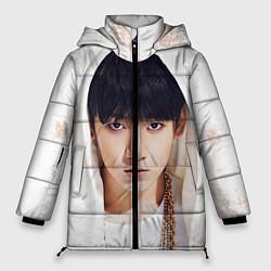 Женская зимняя 3D-куртка с капюшоном с принтом Jeon Jung Kook, цвет: 3D-черный, артикул: 10076888306071 — фото 1