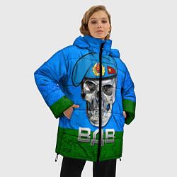 Женская зимняя 3D-куртка с капюшоном с принтом Череп: ВДВ, цвет: 3D-черный, артикул: 10077769406071 — фото 2