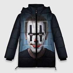 Женская зимняя 3D-куртка с капюшоном с принтом Clown House MD, цвет: 3D-черный, артикул: 10079018306071 — фото 1