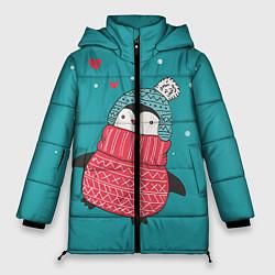 Куртка зимняя женская Пингвинчик цвета 3D-черный — фото 1