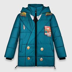 Куртка зимняя женская Китель цвета 3D-черный — фото 1