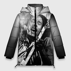 Куртка зимняя женская Боб Марли поет цвета 3D-черный — фото 1