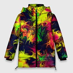 Куртка зимняя женская Кислотный взрыв - фото 1