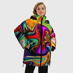 Куртка зимняя женская Неоновые разводы - фото 2