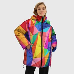 Куртка зимняя женская Радуга цвета 3D-черный — фото 2