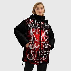 Женская зимняя 3D-куртка с капюшоном с принтом Doctor Sleep, цвет: 3D-черный, артикул: 10095789806071 — фото 2