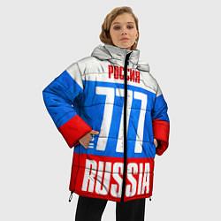 Женская зимняя 3D-куртка с капюшоном с принтом Russia: from 777, цвет: 3D-черный, артикул: 10097333606071 — фото 2