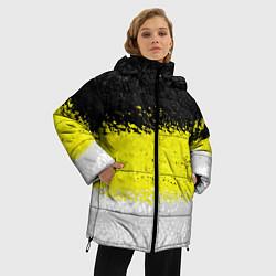 Женская зимняя 3D-куртка с капюшоном с принтом Имперский флаг 1858 года, цвет: 3D-черный, артикул: 10097511506071 — фото 2