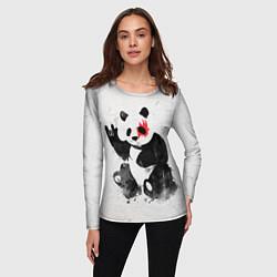 Лонгслив женский Рок-панда цвета 3D — фото 2