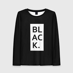 Лонгслив женский Black цвета 3D — фото 1
