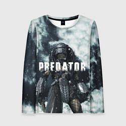 Лонгслив женский Winter Predator цвета 3D-принт — фото 1