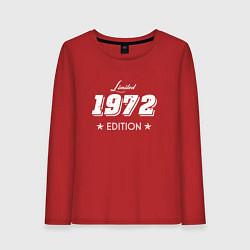 Лонгслив хлопковый женский Limited Edition 1972 цвета красный — фото 1