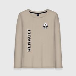 Лонгслив хлопковый женский Renault Style цвета миндальный — фото 1