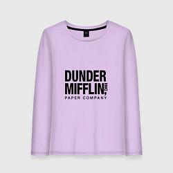 Лонгслив хлопковый женский Dunder Mifflin цвета лаванда — фото 1