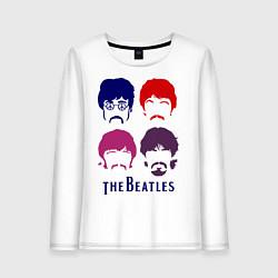 Женский лонгслив The Beatles faces
