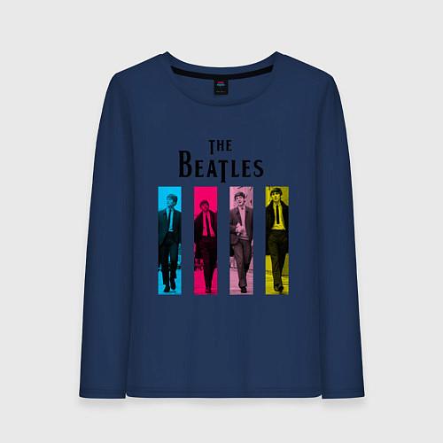 Женский лонгслив Walking Beatles / Тёмно-синий – фото 1