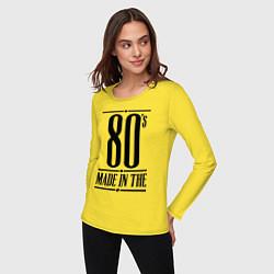 Лонгслив хлопковый женский Made in the 80s цвета желтый — фото 2