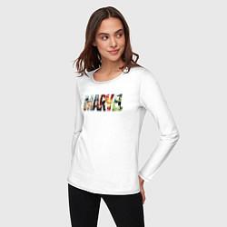 Лонгслив хлопковый женский Marvel Comics цвета белый — фото 2