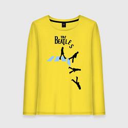 Лонгслив хлопковый женский The Beatles: break down цвета желтый — фото 1
