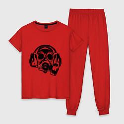 Пижама хлопковая женская Toxic DJ цвета красный — фото 1