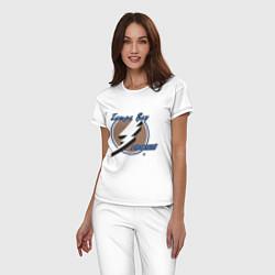 Пижама хлопковая женская Tampa Bay цвета белый — фото 2