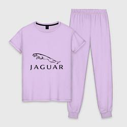 Пижама хлопковая женская Jaguar цвета лаванда — фото 1