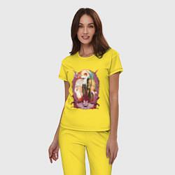 Пижама хлопковая женская Death Note Team цвета желтый — фото 2