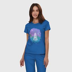 Пижама хлопковая женская Alien цвета синий — фото 2