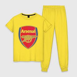 Пижама хлопковая женская Arsenal FC цвета желтый — фото 1