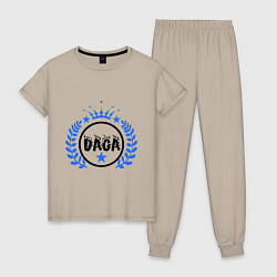 Пижама хлопковая женская Daga цвета миндальный — фото 1