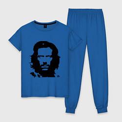 Пижама хлопковая женская Che House цвета синий — фото 1